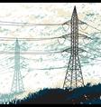 High voltage pylon vector image