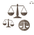 Scale Set vector image vector image