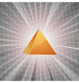 3d golden pyramid background vector