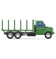 cargo truck 15 vector image vector image