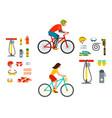 active casual transportation accessories biking vector image