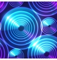 Blue abstract shining circles background vector image