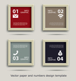 paper and numbers icon communication design vector image