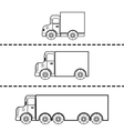 Set of cargo trucks vector image