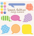 Speech bubbles design vector image