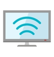 Tv icon technology media flat design vector image