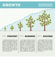 Green tree and plant timeline diagram infographics vector image vector image