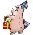 Piglet And Gifts vector image vector image