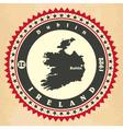 Vintage label-sticker cards of Ireland vector image