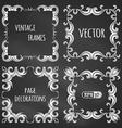 set of chalk vintage frames vector image