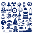 nautical icons vector image