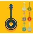 Flat design banjo vector image