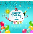 Happy birthday celebration background poster vector image