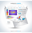 complex origami website vector image vector image
