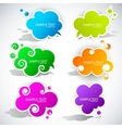 paper cloud bubble for speech vector image