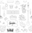 Garden set pattern vector image