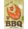 grill fish vector image