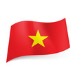national flag of vietnam red background with vector image