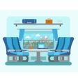 Passenger train inside vector image
