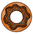 sweet donuts isolated icon vector image
