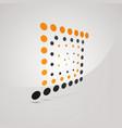 unusual logo of square with orange and dark gray vector image