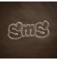 sms message icon vector image