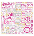 Mudras Hand Symbolism What Are Mudras Part 1 text vector image