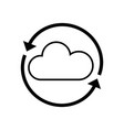 Line nice cloud weather with arrows around vector image