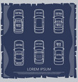 police and ambulance cars vintage vector image vector image