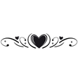 Hearts border vector image vector image