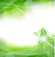 Eco friendly background with green leaves vector image