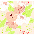 romantic seamless wallpaper vector image vector image