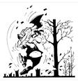 garden in spring vector image