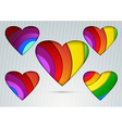 Banner with valentine hearts on it vector image