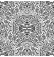 Black and white seamless lace background Pattern vector image