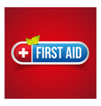 First Aid icon button vector image