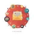 flat design business marketing vector image