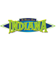 Indiana The Hoosier State vector image