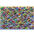 Isometric Cars Buses Trucks Vans Mega Collection vector image