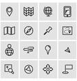 line map icon set vector image