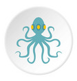 octopus icon circle vector image