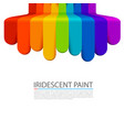 rainbow paint flows down on a white background vector image