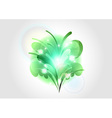 abstract flower green light vector image vector image