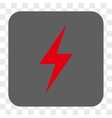 Electricity Rounded Square Button vector image