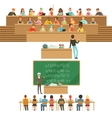 University Education Students And Professors vector image
