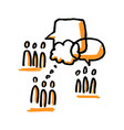 community discussion people and speech bubbles vector image vector image
