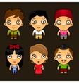 Set of funny people Cartoon characters vector image vector image