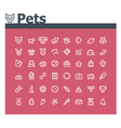 Pets icon set vector image vector image