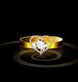 heart ring vector image vector image