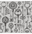 vintage keys logo design template antiques vector image